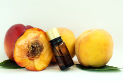 Cosmetic oil peach Royalty Free Stock Image