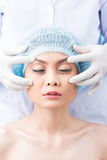 Cosmetic operation on eyes Royalty Free Stock Images