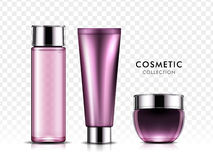 Cosmetic package set Royalty Free Stock Images