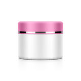 Cosmetic packaging, cream, powder or gel Royalty Free Stock Images