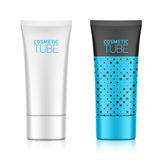 Cosmetic packaging, oval plastic tube Stock Photo