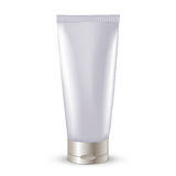 Cosmetic packaging, plastic tube. Vector. Stock Photography