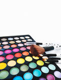 Cosmetic palette shadows with space for text Royalty Free Stock Photos