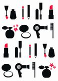 Cosmetic pattern seamless Royalty Free Stock Image