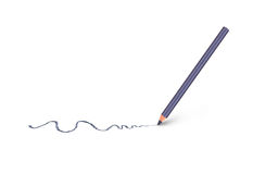 Cosmetic pencil and stroke Royalty Free Stock Images