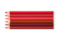 Cosmetic pencils. Group of multi-colored cosmetic pencils Royalty Free Stock Photography