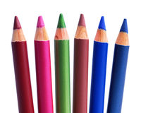 Cosmetic pencils Stock Images