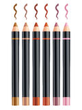 Cosmetic pencils. Of different colors Stock Photo