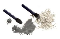 Cosmetic Powder And Brush Stock Photography