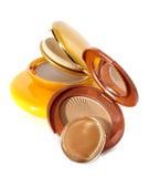 Cosmetic powder brush Royalty Free Stock Photos