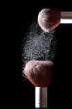 Cosmetic powder brush Royalty Free Stock Photo