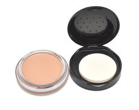 Cosmetic powder compact Royalty Free Stock Photography