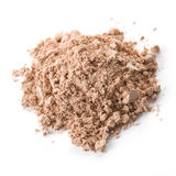 Cosmetic powder isolated on white background Royalty Free Stock Images