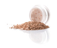 Cosmetic powder isolated on white background Stock Photography