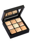 Cosmetic powder palette stock photography