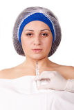 Cosmetic procedure Botox injections Stock Photography