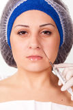 Cosmetic procedure Botox injections Royalty Free Stock Photos