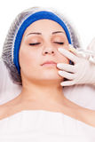 Cosmetic procedure Botox injections Stock Images