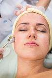 The cosmetic procedures for the face Stock Photography