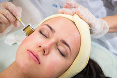 The cosmetic procedures for the face Royalty Free Stock Photos
