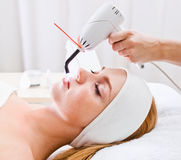 Cosmetic procedures in spa clinic Stock Photos