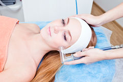 Cosmetic procedures in spa clinic Stock Image