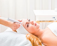 Cosmetic procedures in spa clinic Stock Images