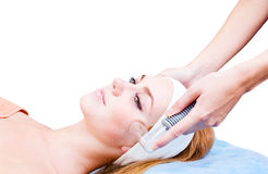 Cosmetic procedures in spa clinic Stock Photo