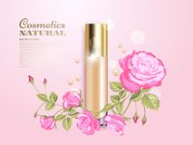 Concealer with flowers Royalty Free Stock Photos