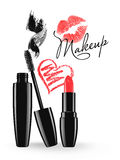 Cosmetic Products Design Vector Illustration Stock Photography