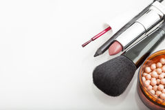 Cosmetic products for makeup Royalty Free Stock Photos