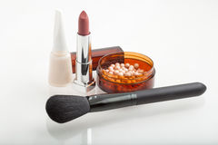 Cosmetic products for makeup Royalty Free Stock Images