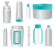 Cosmetic products. Set of cosmetic containers illustration Stock Photography