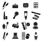 Cosmetic products simple icons set. Stock Photo