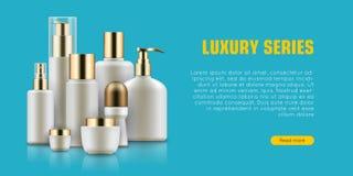 Cosmetic realistic bottle set Stock Photography