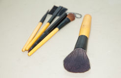 Cosmetic& x27; s brushs 免版税图库摄影