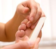 Cosmetic salon - pedicure Stock Photography