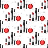Cosmetic seamless pattern Stock Image