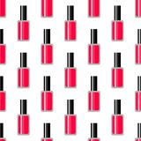 Cosmetic seamless vector pattern. Nail polish texture. Summer neon background royalty free illustration