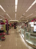 Cosmetic Section inside mall Stock Images