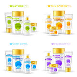 Cosmetic Series Packaging Design Royalty Free Stock Images