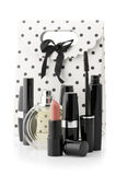 Cosmetic set and bag Stock Images