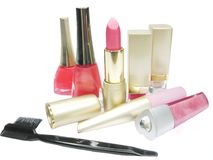 Cosmetic Set For Makeup Stock Photography
