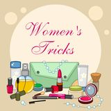 Cosmetic set items Royalty Free Stock Photo