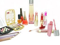 Cosmetic set for makeup Royalty Free Stock Images