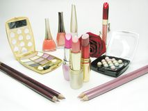 Cosmetic set for makeup Royalty Free Stock Image