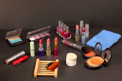 Cosmetic shelf Royalty Free Stock Images