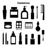 Cosmetic silhouettes set Royalty Free Stock Photo