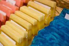 Cosmetic soaps Stock Images