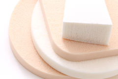 Cosmetic sponges Royalty Free Stock Photography